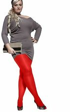 Plus size opaque plain pantyhose tights 12 Colors