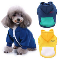 Dog Puppy Pet Cat Winter Warm Hoodie Hooded Coat Jacket Clothes Costume Sightly