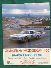 NASCAR WINSTON CUP WARNER HODGDON 400 RIVERSIDE RACING POSTER BOBBY ALLISON 1980