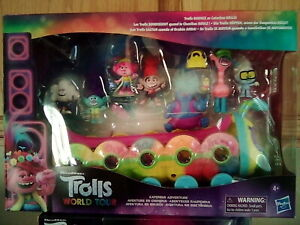 Gift For Her Kids Trolls World Tour: Caterbus 7pc Figurine Set Poppy and Friends