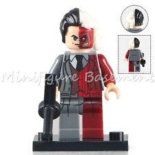 Custom Two-Face Minifig Batman DC Comics Superhero fits with Lego UK Seller