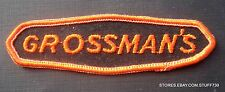 """GROSSMANS EMBROIDERED SEW ON PATCH Building Supplies Grossman's 4 1/2"""" x 1 1/4"""""""