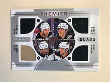 GETZLAF / PERRY / KESLER / FOWLER 2017-18 UD Premier Quads Jersey Relic 27/49