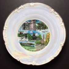 Vintage Vermont The Green Mountain State Decorative Souvenir Plate 6 1/8""