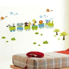 Jungle zoo animal safari TRAIN Wall Stickers Decal Decor Kids nursery playroom