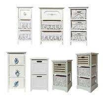 Assembled White Narrow Slim Kids Children Nursery Bedroom Bedside Unit Cabinet