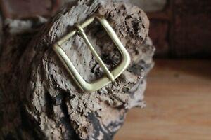 Brass Belt Buckles Leather belts Solid Brass 80 grams 38/40mm Handmade Buckle.UK