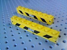 Lego Bricks 1x8 [3008] with set '7631' Chevron Stickers - Yellow x2
