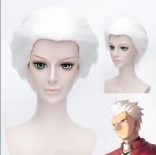 Cosplay Perücke Fate stay night Archer white kurze Kostüme Anime haar