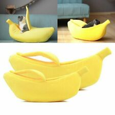 Banana Boat Shape Pet Dog Bed Cat Kitty Sofa Plush Warm House Home Kennel L1