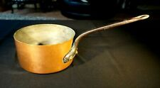 Vintage French Copper Cookware 4 lt. Heavy Cooking Pot