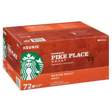 Starbucks Pike Place Medium Roast Coffee 72 K-Cups for Keurig Brewers EXP 2/2020