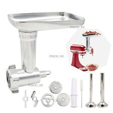 Meat Grinder Attachment Steel Sausage Stuffer Kit For Kitchen Aid Stand Mixer