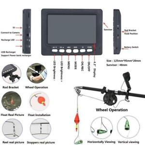 "4.3"" Inch HD Monitor Underwater Fishing Video Camera Kit 6W IR LED DVR Recorder"