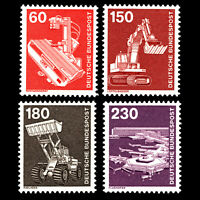 Germany 1978 - Industry and Technic - Sc 1176,84,86,89 MNH