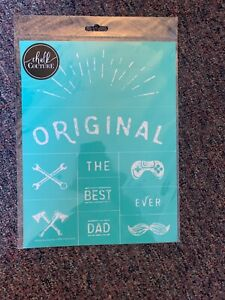"""NIP Chalk Couture Transfer, Original The Best Dad Ever, brand new!💕 8.5. x 11"""""""