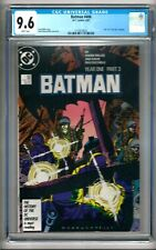 """Batman #406 (1987) CGC 9.6 White Pages  Miller   Part 3 of """"Year 1"""" Storyline"""
