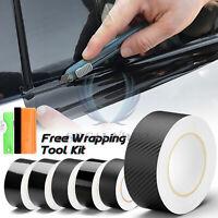 Gloss / Matte / Carbon Fiber Style Black Vinyl Wrap Kit Chrome Delete1 Car Trim