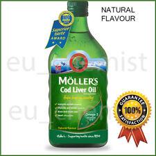 MOLLER'S Mollers Cod Liver Oil OMEGA-3 -NATURAL Taste-Children Adults Elderly