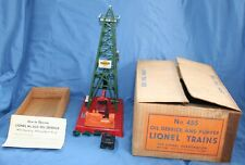 Vintage Postwar Lionel Oil Derrick No. 455 with instructions and original box