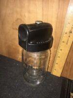 Vintage Electrolux Vacuum Shampoo Sprayer Pint Glass Jar Bakelite Lid