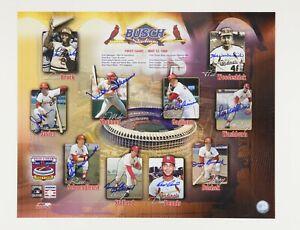 St. Louis Cardinals Busch Stadium 1st Game Oversized AUTOGRAPHED Photo Poster