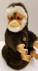 VINTAGE GERMAN MONKEY- TEDDY HERMANN ORIGINAL 1970s Gold Tag - VERY NICE
