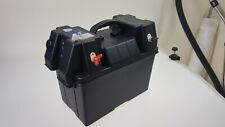 Power Centre Battery Box 105 Amp with 2 x USB & 12V Watertight Connector Charger