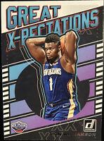 🔥 2019-20 Zion Williamson RC Panini Donruss Great X-Pectations Pelicans
