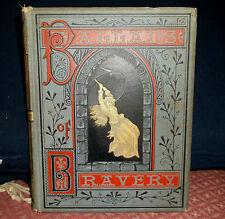 Ballads of Bravery, George M. Baker, Illustrated, Vintage Children's Book, 1877