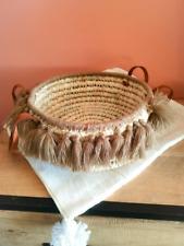 Fruit basket in braided palms Handmade.