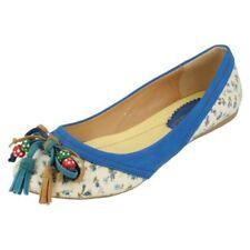 Calzado de mujer de color principal azul de flores