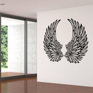 Decorative Angel Wings Wall Sticker Decal Transfer Bedroom Home Matt Vinyl UK