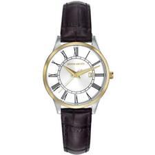 Klare Armbanduhren mit Armband aus echtem Leder