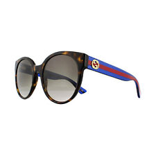 0b8c4839e Gucci Sunglasses Gg0035s 004 Havana Glitter Blue and Red Brown