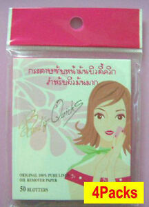 Beauty Quicks Japanese Oil Clear Blotting Paper 4 packs