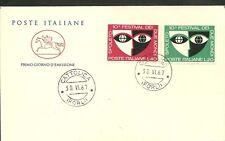 ITALIA BUSTA CAVALLINO 1967 FESTIVAL DUE MONDI SPOLETO ANNULLO CATTOLICA
