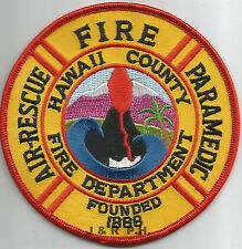 """Hawaii County - 1888, HI  """"Fire / Air-Rescue""""  (4"""" round size)  fire patch"""