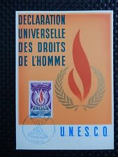 FRANCE MK 1969 UNESCO MAXIMUMKARTE CARTE MAXIMUM CARD MC CM a8155