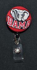 University of Alabama Fabric Retractable Badge Reel with swivel alligator clip
