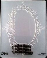 Sizzix Large Embossing Folder FANCY FRAME fits Cuttlebug  Tim Holtz 4.5x5.75in