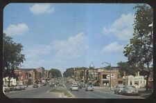 Postcard CANANDAIGUA New York/NY  Business Storefronts w/Mobile Gas Station 50's