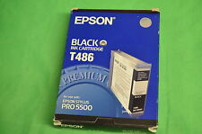 Epson T486 Stylus Pro 5500 Black Ink Original Genuine