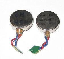 2 X Vibrator Flat Micro Motor - 3 VDC - 10mm Dia - For Cellphone Mini Vibrator