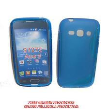 Pellicola+Custodia cover WAVE BLU per Samsung Galaxy Ace 3 S7270 (A1)
