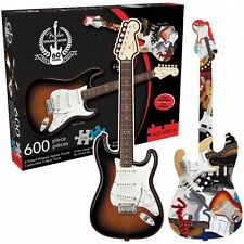 Fender Guitar Shape Jigsaw Puzzle 20in x 27in Double Sided 000125619