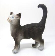1031)  Schleich 13122 Katze grau Hofkatze Katzen Schleichtier Schleichtiere
