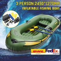 Inflatable Fishing Boats Kayak Water Sport Canoe Rafts Dinghy Boats with Oars