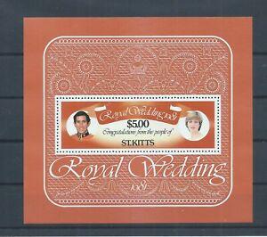 St Kitts stamps.  1981 Royal Wedding minisheet MNH. (J856)