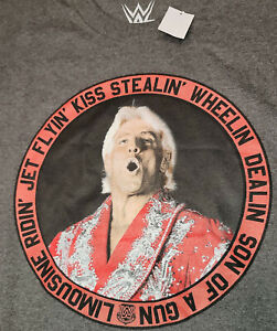 WWE WWF Mens T-SHIRT RIC FLAIR RETRO LEGENDS Nature Boy SHIPS FREE NEW WITH TAGS
